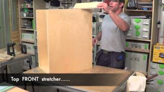 Building Kitchen Cabinets Part 7.  Assembling A Base Cabinet