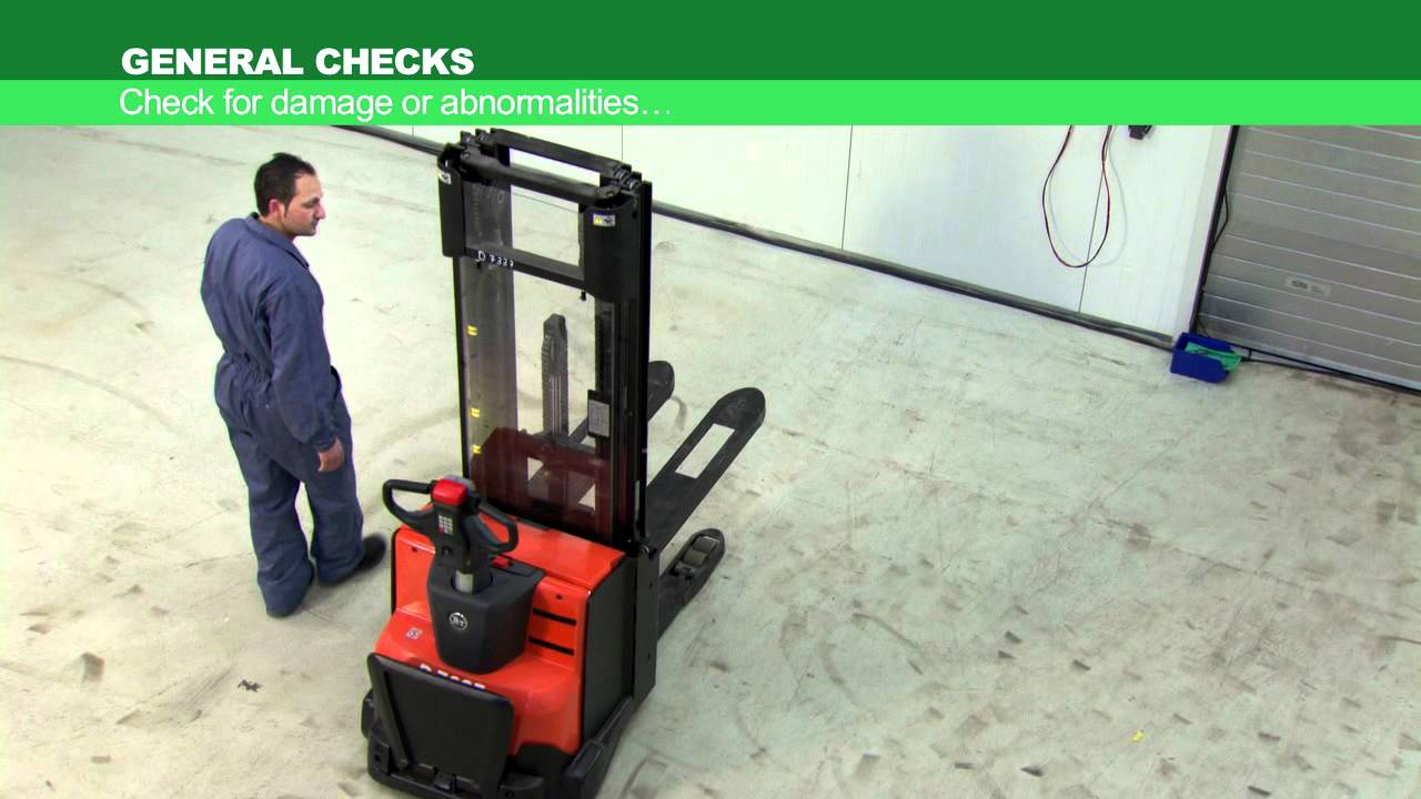 Tmhe S Daily Checklist For Stacker Forklift Operators