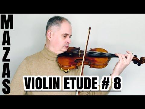 J. F. Mazas Violin Etude no. 8 - Études Speciales op. 36 Book 1