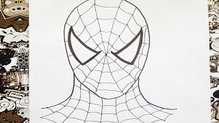 Como dibujar al hombre araña | how to draw spiderman | como desenhar spiderman