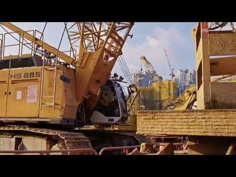 Liebherr - Duty cycle crawler cranes doing foundation work in Hong Kong