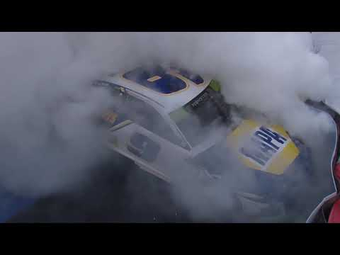 Chase Elliott sticks it to 'Heartburn Turn' with victory burnout   NASCAR at Charlotte Roval