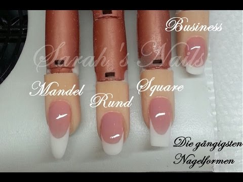 g ngige nagelformen teil 2   feilen make up french   youtube