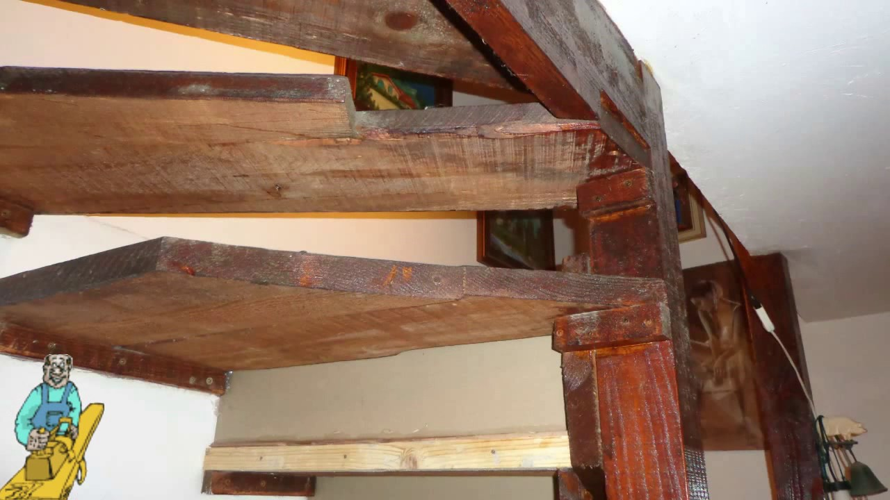 Fai da te ristrutturazione della scala in legno grezza for Bancone in legno fai da te
