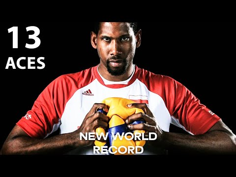 Wilfredo Leon Destroys Serbia with 13 Aces   VNL 2021   New Record in Volleyball History