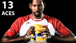 Wilfredo Leon Destroys Serbia with 13 Aces | VNL 2021 | New Record in Volleyball History