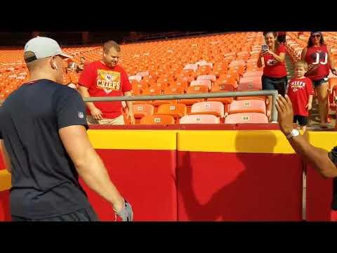 J.J Watt Playing Catch With Chiefs Fans