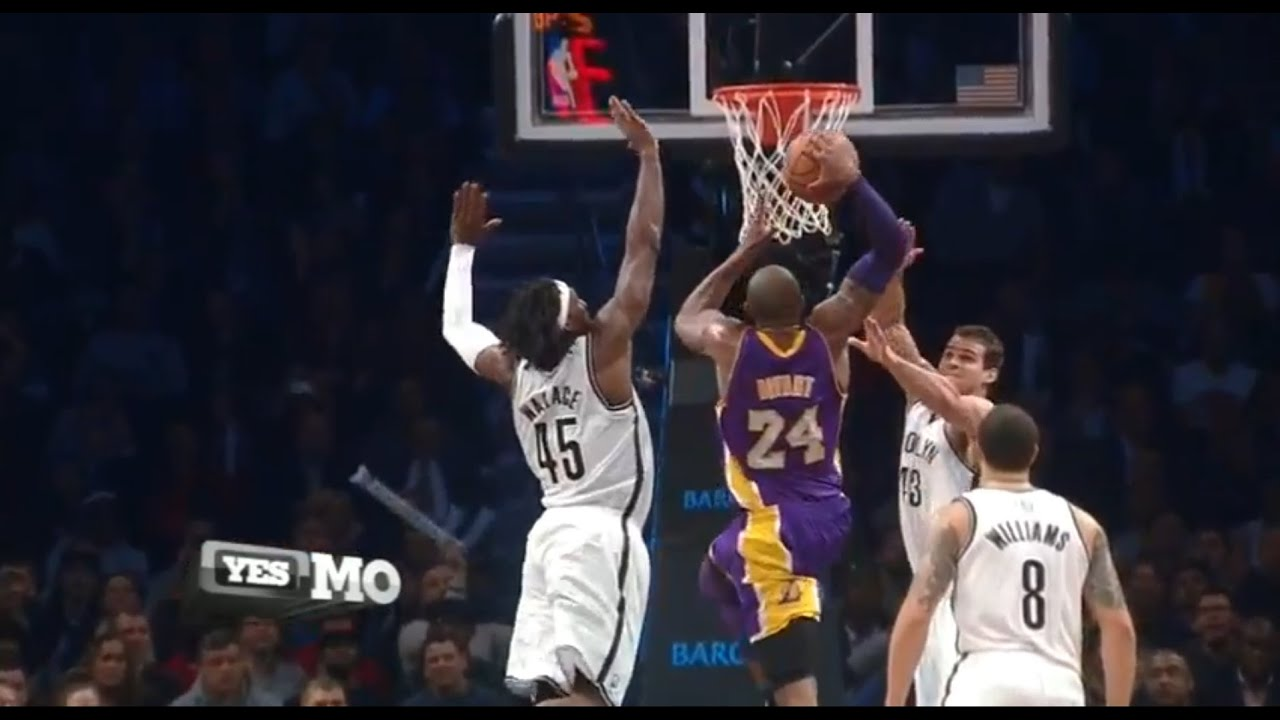 best service ab193 74ca0 Kobe Bryant Dunks on Gerald Wallace   Kris Humphries in Glorious HD + Slo Mo