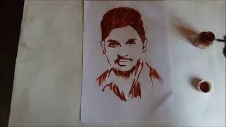 Sarainodu Allu Arjun Art By Artist Harrsha