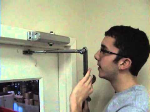 How To Install A Door Closer Top Jamb Installation Video