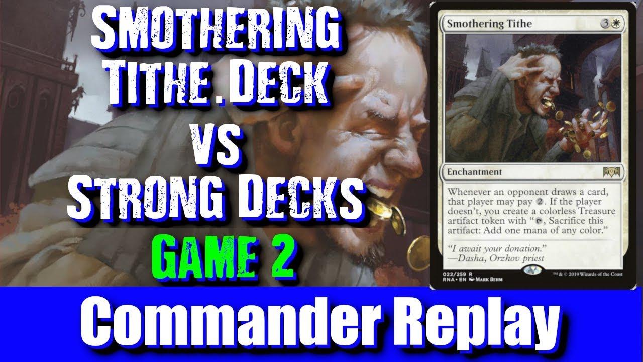 Smothering Tithe Deck vs Strong Decks Game 2: Saffi Eriksdotter, Sliver  Overlord, Mizzix