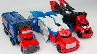 Transformers Robots in Disguise Power Surge Optimus Prime and Optimus Prime Vehicle Robot Car Toys