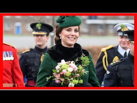 Pregnant Kate Middleton Braves The Cold In Gorgeous Green Coat For St. Patty's Celebration In London