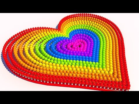 Thumbnail: Teach Colors with A lot of 3D Ice Cream Heart for Kids and Children