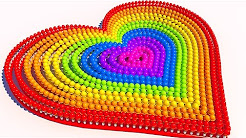 Teach Colors with A lot of 3D Ice Cream Heart for Children