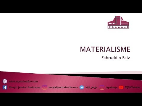 Ngaji Filsafat 14 : Materialisme