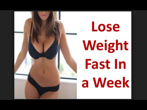 How To Quickly Lose Weight In a Week 7 Days At Home