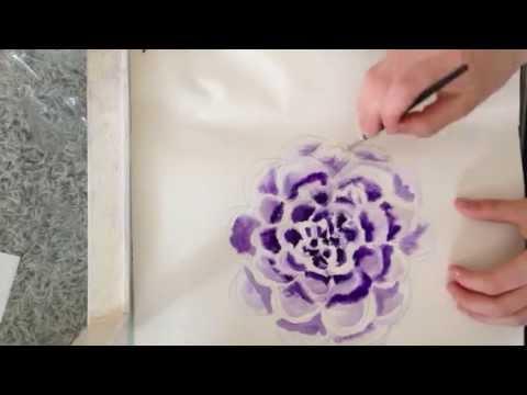 Blume mit Aquarellfarben malen  YouTube