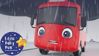 My Little Red Bus - The Storm | Go Buster | ABCs and 123s! | Baby Songs | Learn with Little Baby Bum