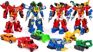 Carbot Construction Hiper Buildian 2 4 6 combo 6 Vehicle Combine Transformers Robot Car Toys