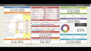 Maximum Purchase Price Calculator Video Tutorial(, 2014-03-22T19:15:31.000Z)