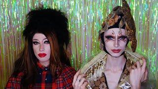 Gottmik and Rosé Drag queen makeup Драг грим макияж Розе и Готтмик из Королевских гонок РуПола