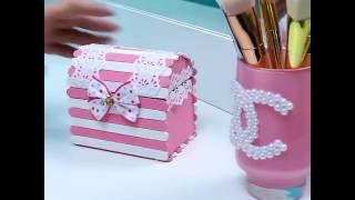 cara kreatif Membuat kotak perhiasan - kerajinan tangan