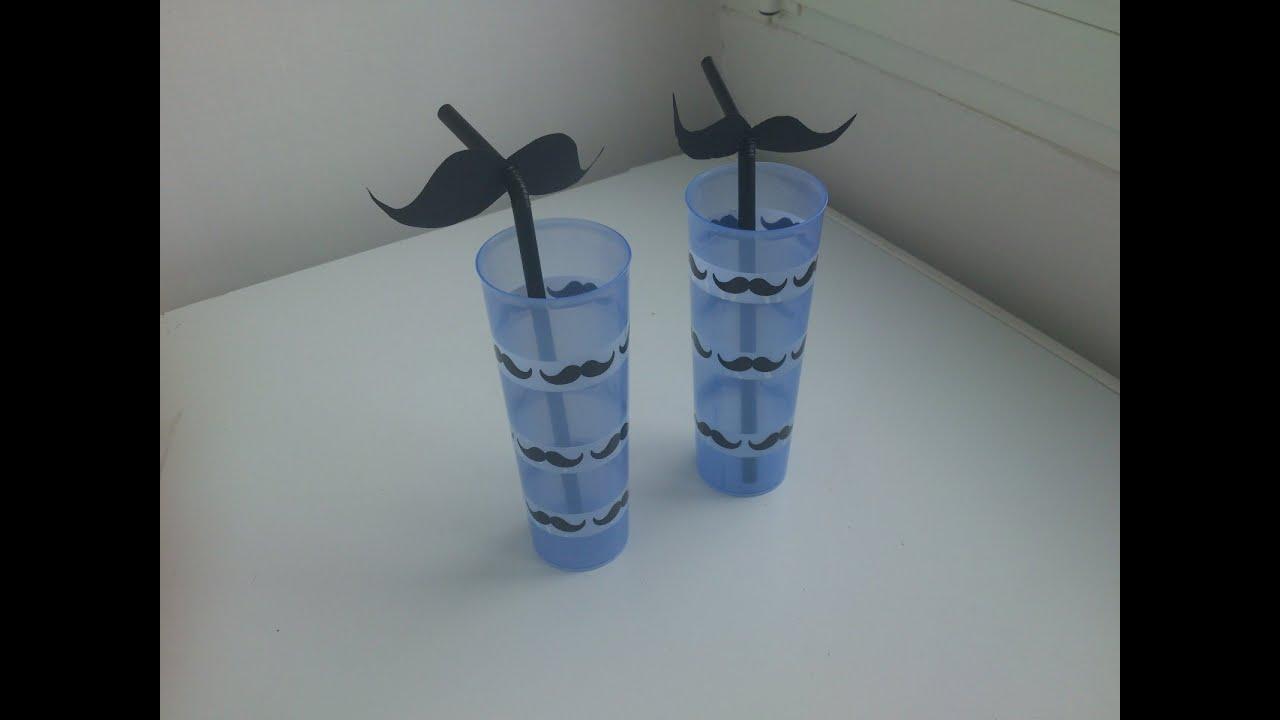 C mo decorar una pajita con mostachos for Vinilo para habitacion de nena