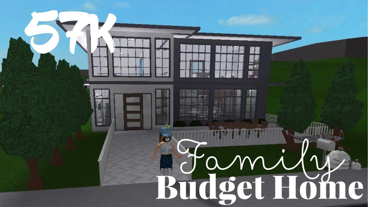 60k Modern Family Budget Home Roblox Bloxburg Its Sugarcoffee