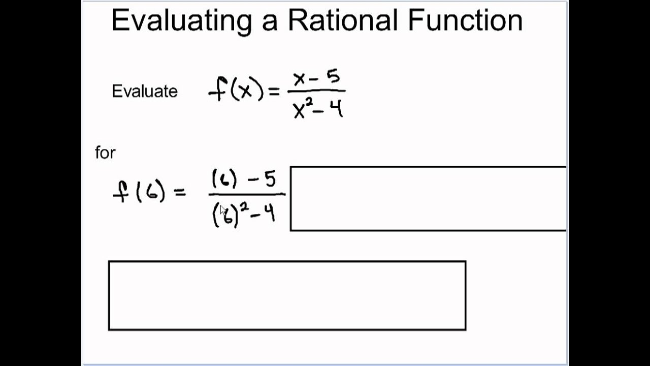 Definition And Evaluation Of Rational Functions - Youtube