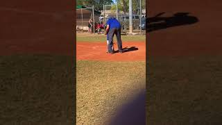 My first time playing baseball