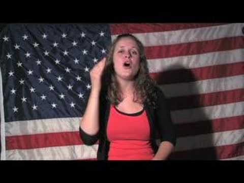 God Bless America  with American Sign Language