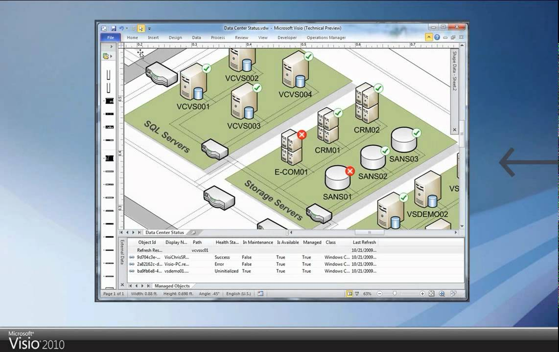 Product Showcase  Visualize your datacenter with Visio