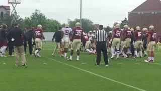 duke football practice