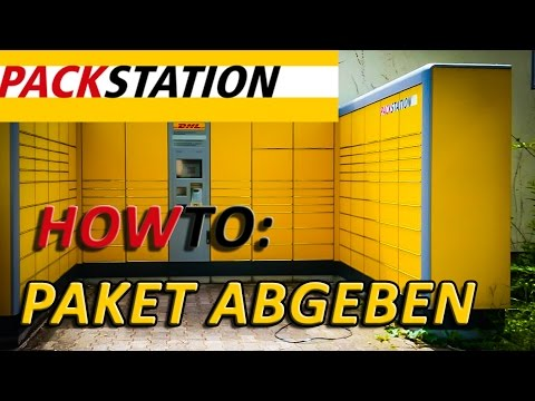 how to dhl packstation paket abgeben youtube. Black Bedroom Furniture Sets. Home Design Ideas