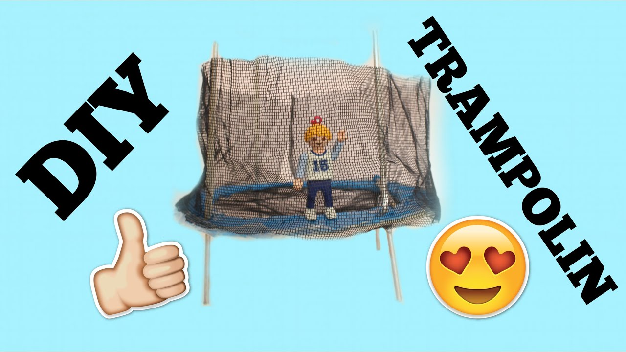 diy playmobil trampolin youtube. Black Bedroom Furniture Sets. Home Design Ideas
