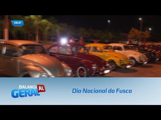 Dia Nacional do Fusca: Para celebrar a data, uma carreata foi realizada na orla de Maceió