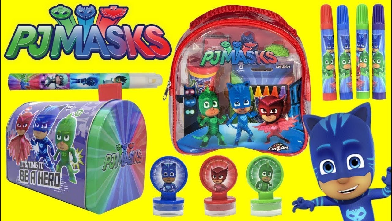 Download Unboxing Pj Masks  Stamps, Stickers and Play Activities