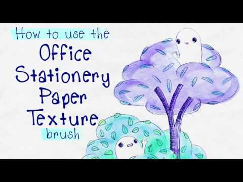 how to use the Office Stationery Paper Texture brush