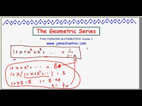 Geometric Series Formula (TANTON Mathematics)