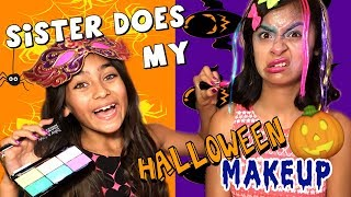 Sister Does My Halloween Makeup - Halloween Costumes 2017 - Comedy : JUST GISELLE // GEM Sisters