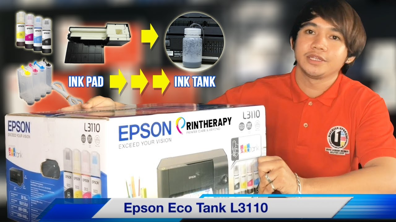 EPSON L3110 UNBOXING, WASTE TANK & CISS INSTALLATION