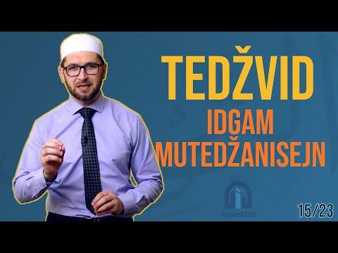 TEDŽVID: IDGAM MUTEDŽANISEJN - UKLAPANJE SRODNIH HARFOVA