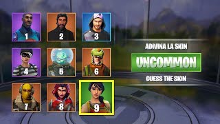 ADIVINA LA SKIN DE FORTNITE FOR ITS QUALITY... LEGENDARY, EPICA, RARA, POCO COMUN tusadivi