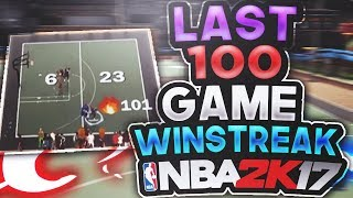 WALKED OFF THE LAST 100 GAME WIN STREAK OF NBA 2K17 ▪ (LEGENDS, COME AROUND SUPERSTAR 5, AND MORE)