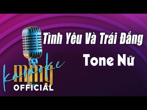 Tình Yêu Và Trái Đắng (Karaoke Tone Nam) | Hát với MMG Band