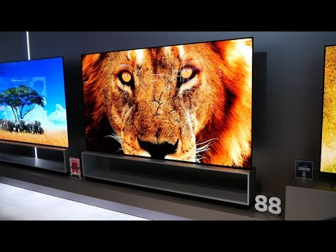 """CES 2020: LG Shows Off 88"""" Signature 8K OLED, Rollup OLEDs, and... an 8K Mini LED TV!?!"""