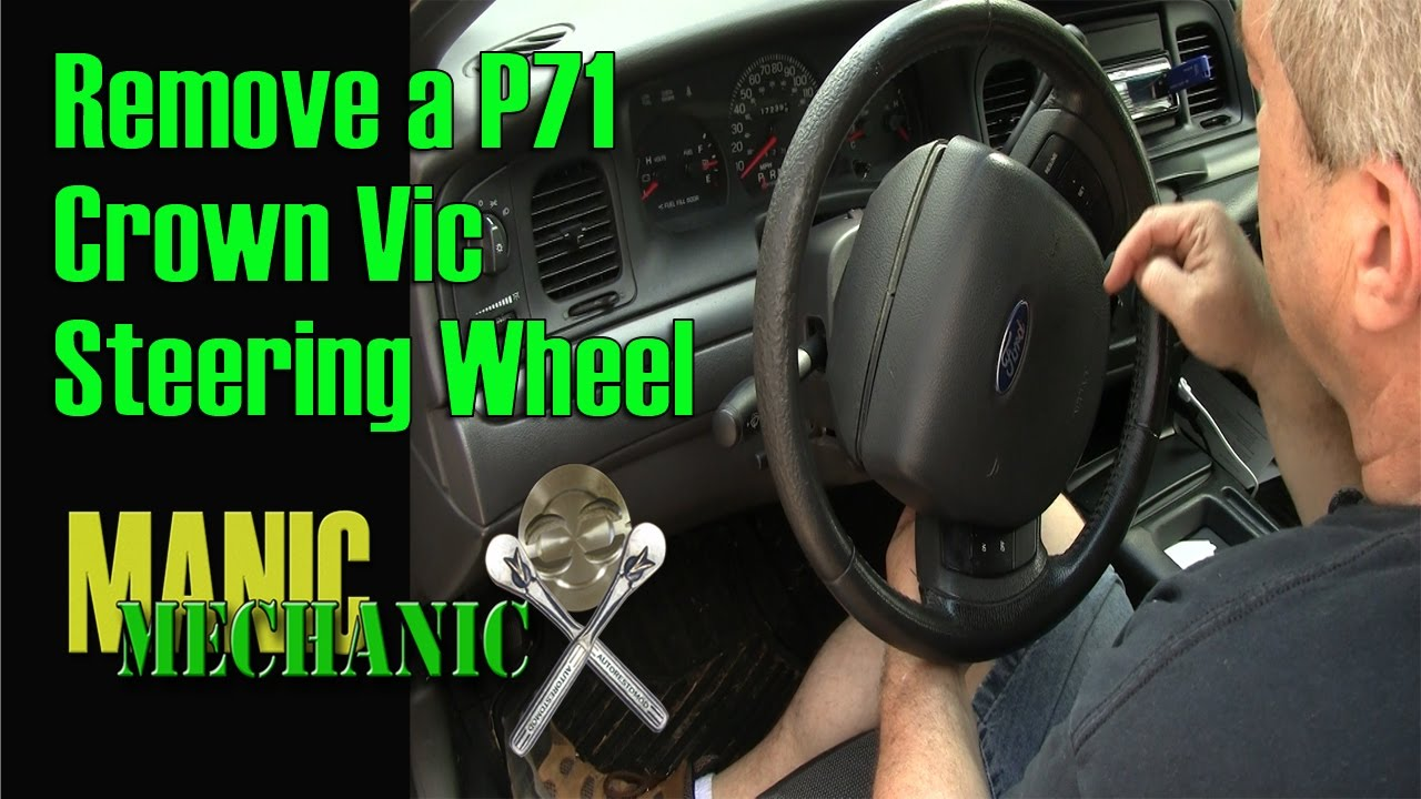 Safely Remove the Air Bag SRS From 2005 2011 P71 Crown Victoria Episode 5  Manic Mechanic