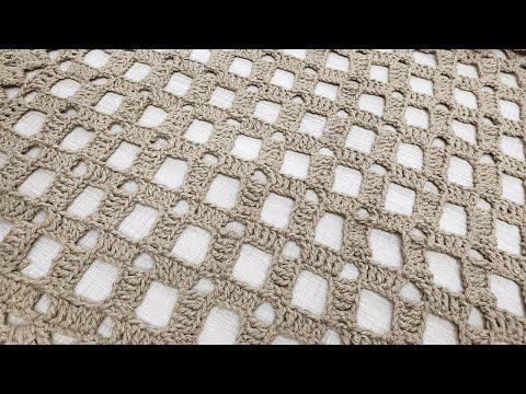 Ponto de Crochê Quadriculado por Sandra Brum