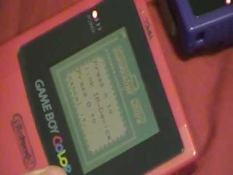 Gameboy color IR port demo (infrared port)